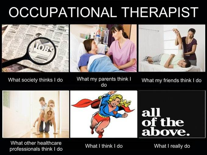 an introduction to the occupational therapy and the work of occupational therapists What do occupational therapists do here are some examples of the kinds of work that occupational therapists do: working with children: helping children achieve their developmental milestones such as fine motor skills and hand-eye coordination.